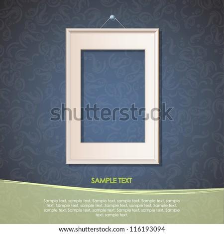 Realistic framework on vintage background. Vector Design. - stock vector