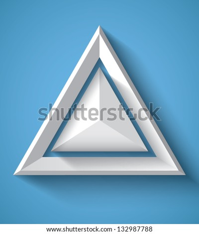 Realistic geometrical background with triangle - stock vector