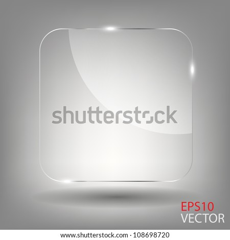 Realistic glass frames. Vector illustration - stock vector