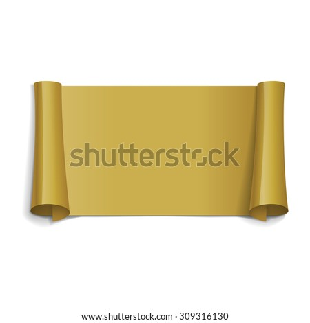 Realistic Gold Glossy vector ribbon for your design project - stock vector