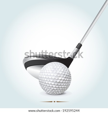 Realistic golf composition with clear space