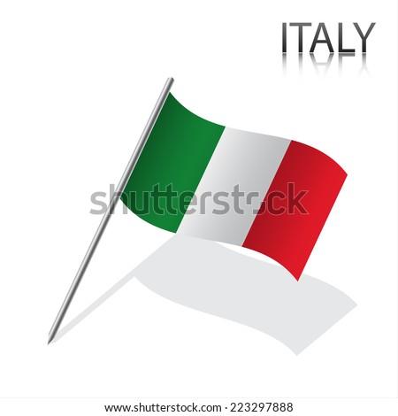 Realistic Italian flag, vector illustration - stock vector