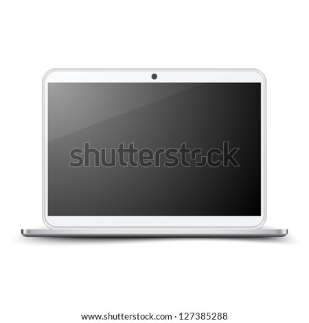 Realistic Laptop - stock vector