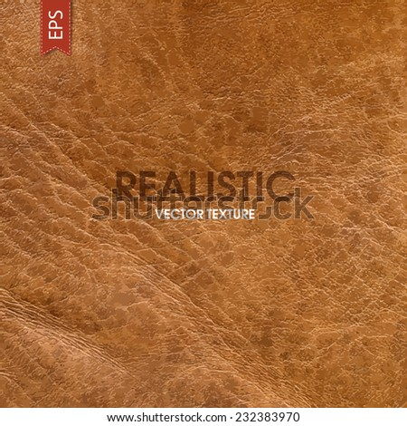Realistic leather vector texture - stock vector