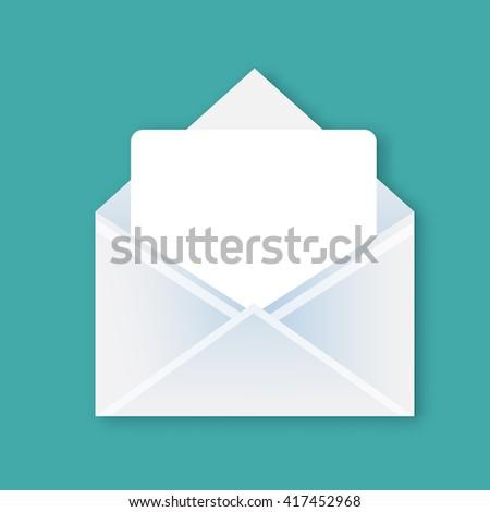 Realistic letter design - stock vector
