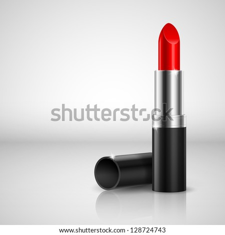 Realistic lipstick. Illustration on white background for design
