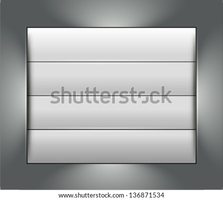 realistic metallic background. business concept presentation background, layout - stock vector