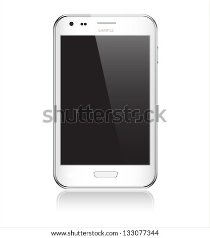 Realistic mobile phone - stock vector