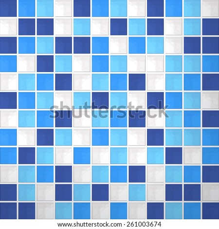 Realistic mosaic tiles pattern texture in vector format - stock vector