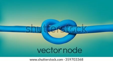 Realistic node. Wires design element. Vector illustration - stock vector