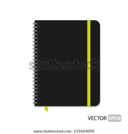 Realistic notebook vector. - stock vector