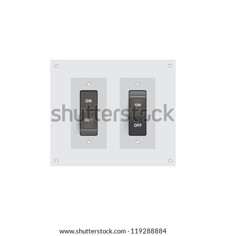 Realistic On-Off switch Vector Illustration. (Eps10) - stock vector