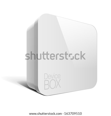 Realistic Package Box. For presentation Software, electronic device and other products. Vector illustration - stock vector