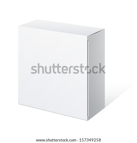 Realistic Package Cardboard Box. Square shape. Vector illustration