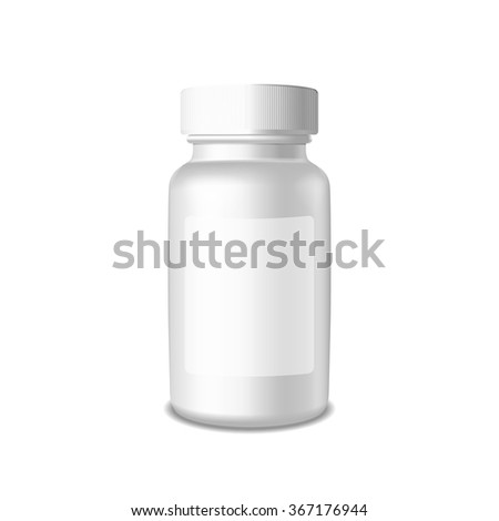 Realistic packaging vector template. Plastic box on white background for you design. It can use it for Pharmaceutical or Medicine