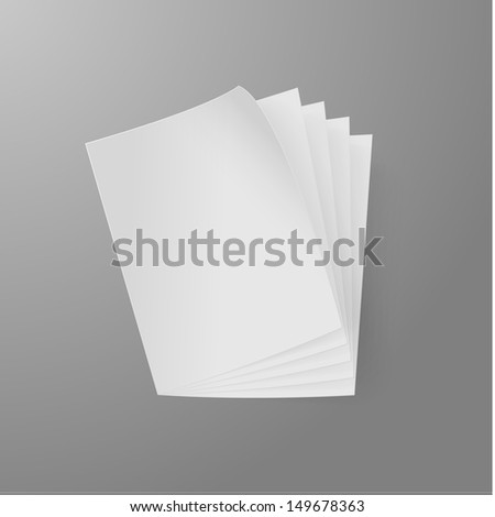 Realistic Paper Stack Illustration