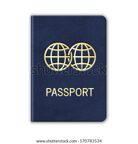 Realistic Passport. Isolated On White. Vector - stock vector