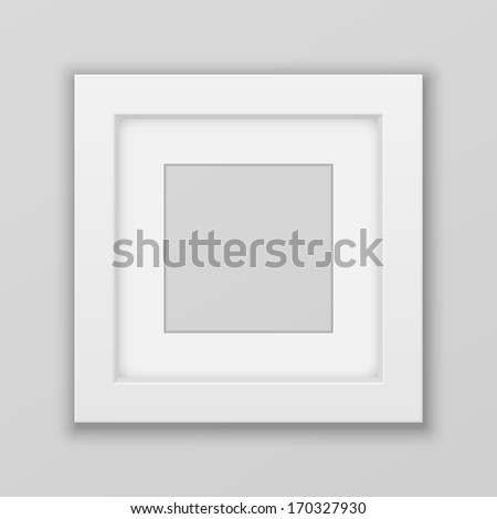 Realistic Picture Frame. Square. Vector - stock vector