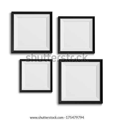 Realistic picture frames. Perfect for your presentations. Vector illustration - stock vector