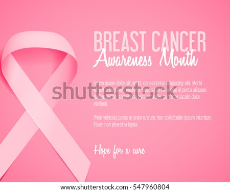 Breast cancer october awareness month campaign stock vector realistic pink ribbon background template breast cancer awareness symbol breast cancer awareness pink ribbon yadclub Image collections