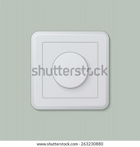 realistic plastic white dimmer light switch vector easy editable - Dimmer Light Switch