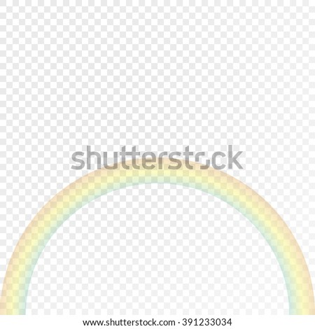 Realistic rainbow. Isolated on a light background. Using a transparency effect for you to demonstrate how.