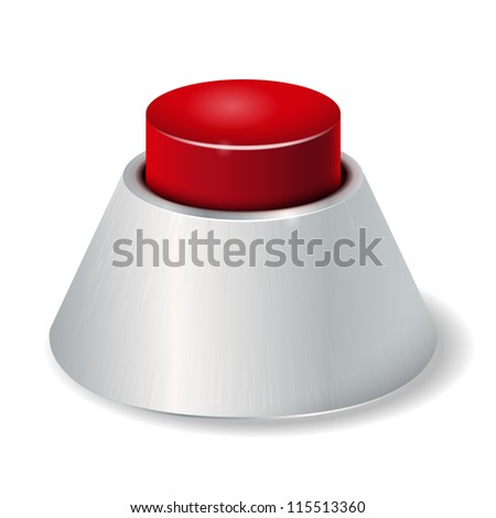Realistic red button