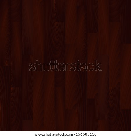 Realistic redwood wooden floor seamless pattern, vector - stock vector