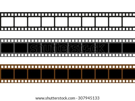 Realistic scan of 35mm color negative film strips
