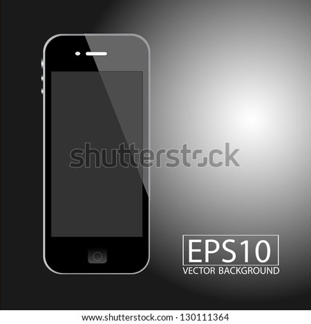 Realistic Smart Phone Template - stock vector