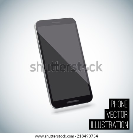 Realistic smart phone vector - stock vector