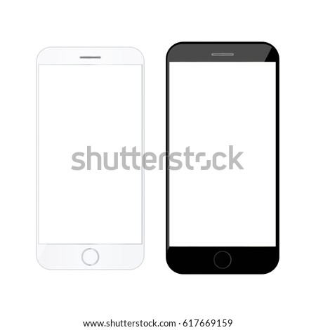 realistic smartphone modern mobile phone blank stock vector royalty