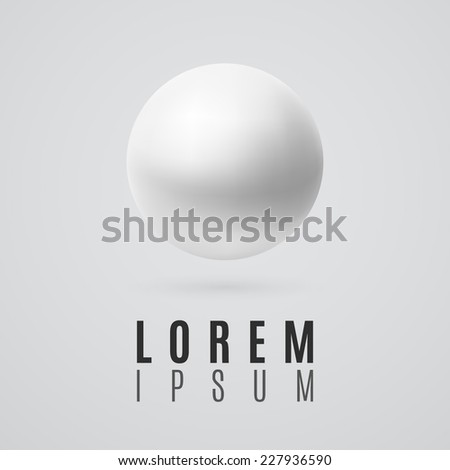 Realistic sphere icon. Vector illustration - stock vector