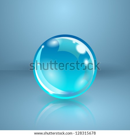 Realistic sphere or ball. Vector illustration. - stock vector