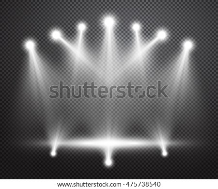 Realistic Stage Lighting Vector Background Group Stock Vector