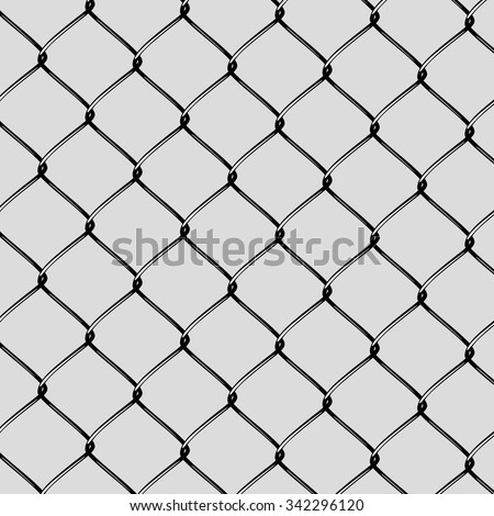 Realistic Steel Netting Cut - stock vector