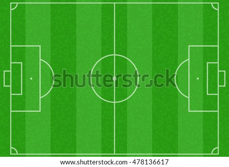 Realistic striped textured grass football or soccer field for any design vector illustration