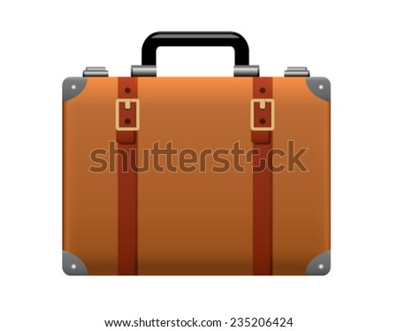 Realistic Suitcase Icon - stock vector