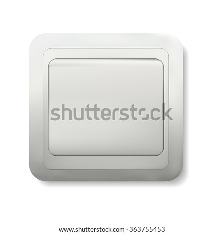 Realistic switch on a white background, vector illustration