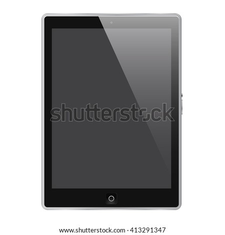Realistic tablet isolated on white background in vector