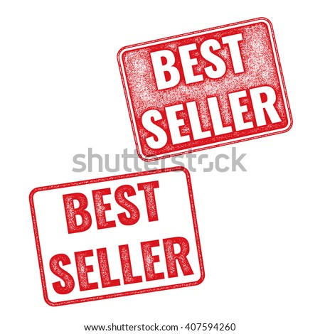 Realistic textured vector stamp Best Seller. Red stamp with words Best Seller