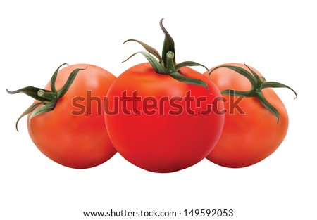 Realistic Tomatoes in editable eps10 format. The objects are in groups and contains mesh.