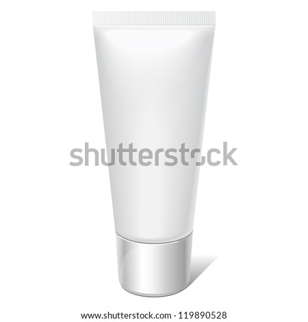 Realistic tube. For cosmetics, ointments, cream, tooth paste, glue Vector.elements