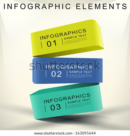 realistic vector abstract 3d cube infographic elements