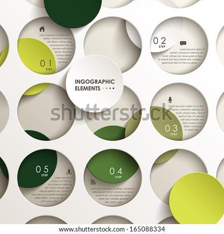 realistic vector abstract 3d paper infographic elements - stock vector