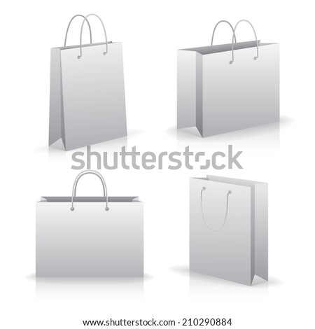 Realistic vector bags, isolated on white. Eps 10 format - stock vector