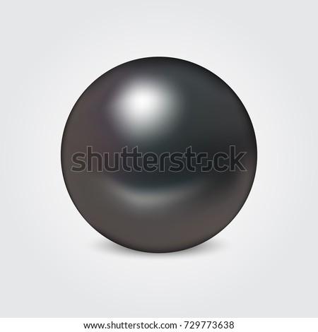 realistic vector black pearl