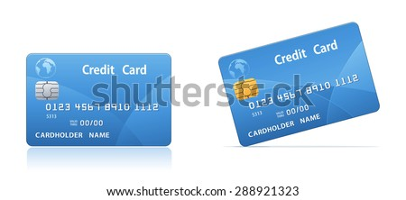 Realistic vector credit card.