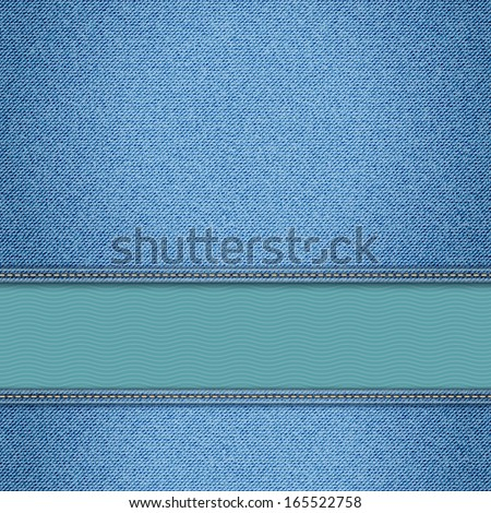 Realistic vector denim background. eps10 - stock vector