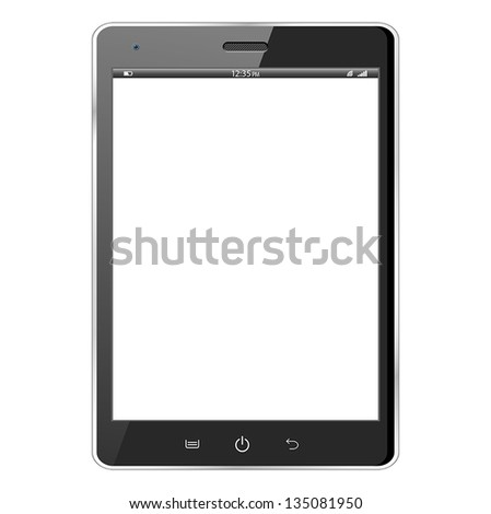 Realistic vector illustration of a black modern tablet. eps10